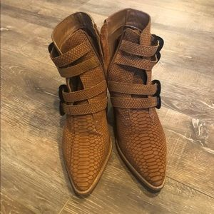 Matisse camel snakeskin boots